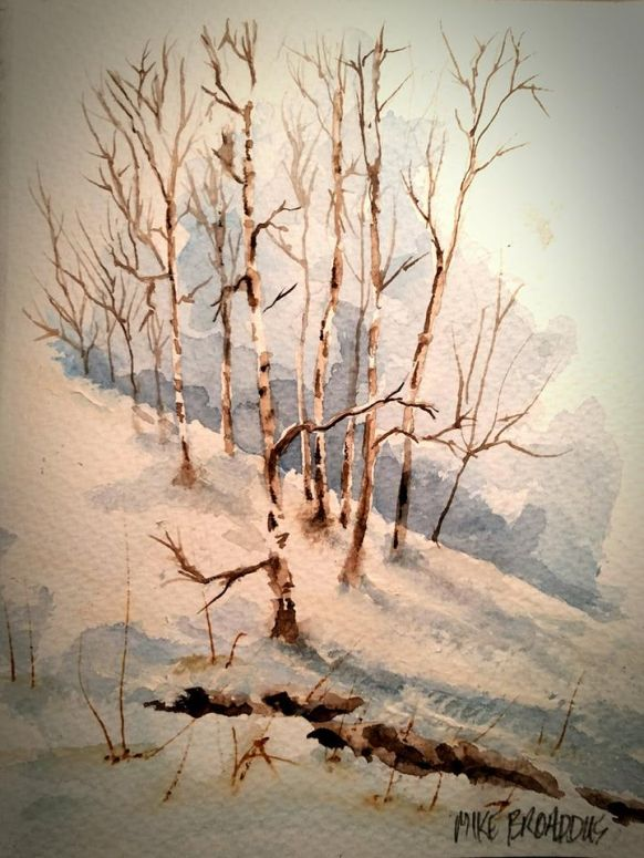 C'mon Spring Need a Break from painting winter scence… birch 775
