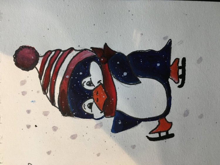 Défi 14 février # pingouin image