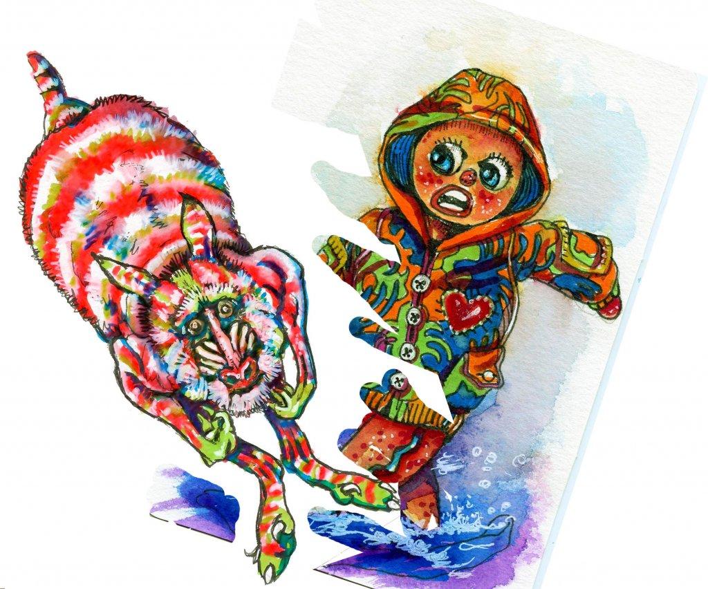 Watercolor Postcard Painting Example Sandra Strait