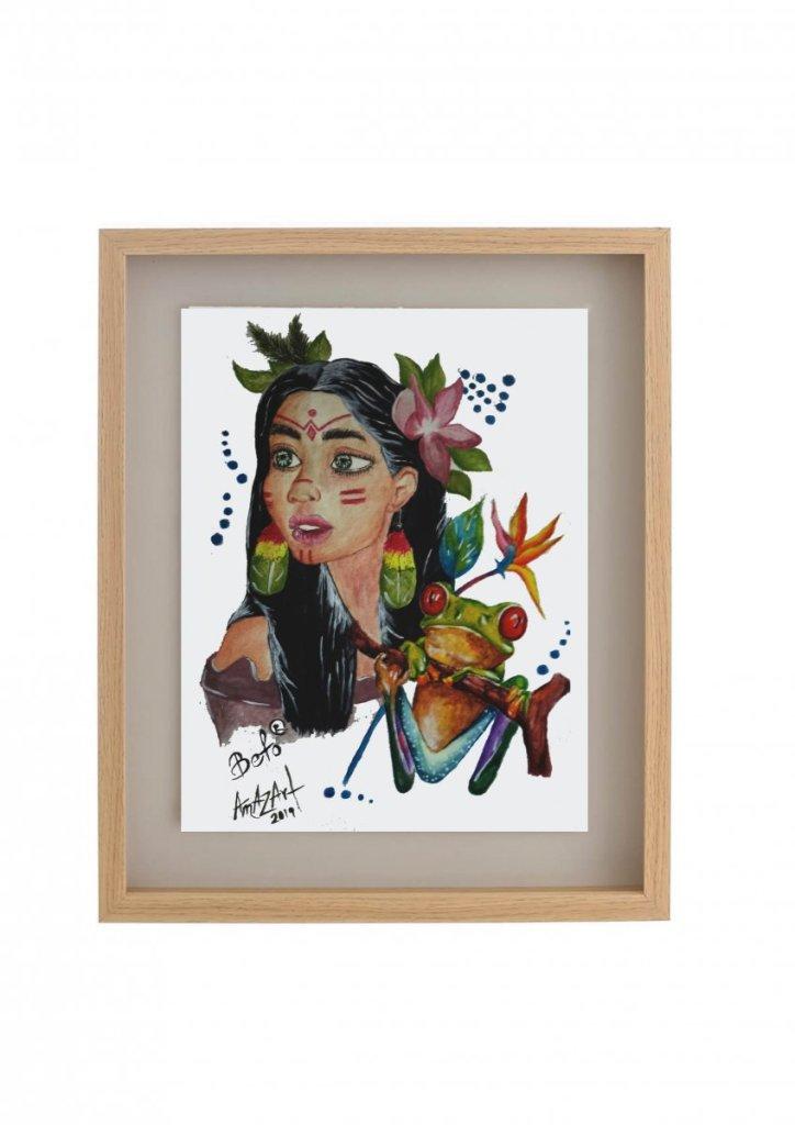 Mezclas encantadoras. La belleza de la mujer Amazónica! (Shuar) y de su Flora y Fauna. print1