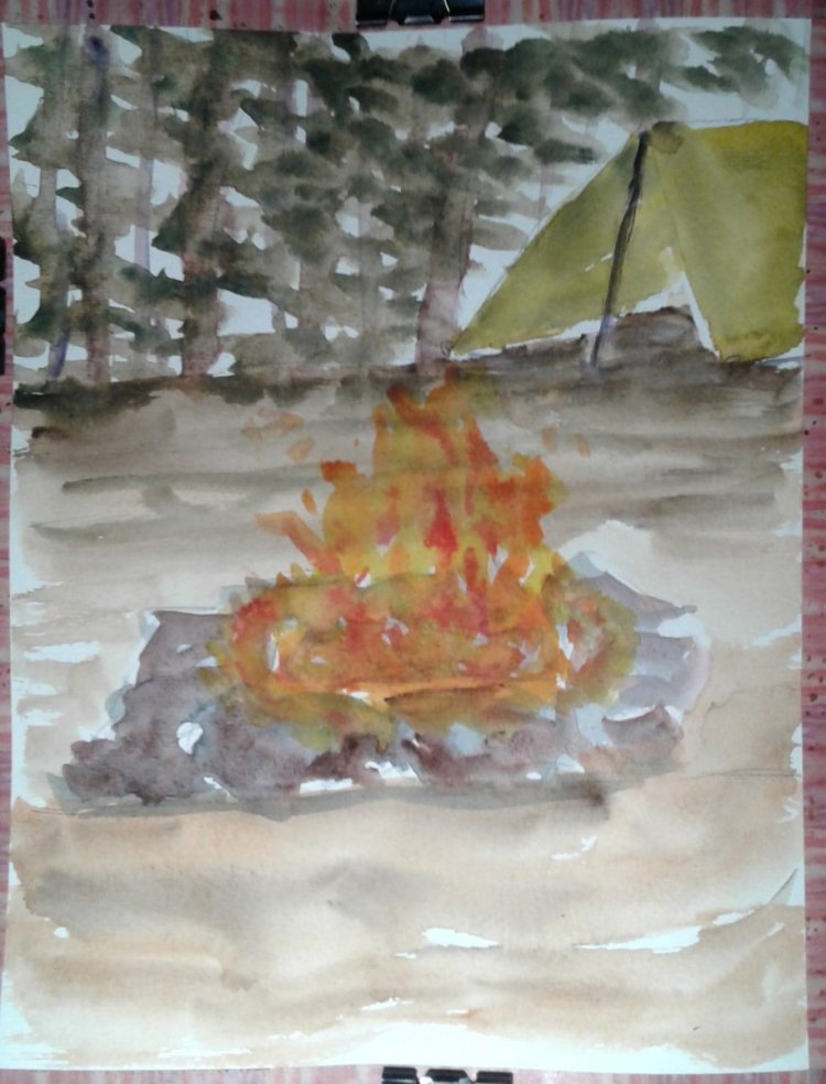 Campfires and cassettes… I often mention camping, fishing and spending time in the woods as a