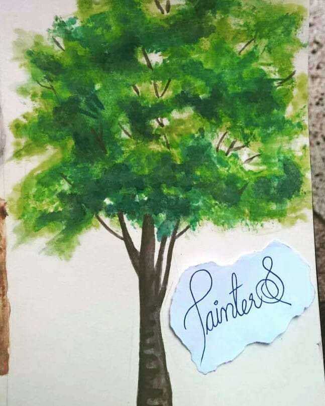 #PainterS #nonstopcreative March : 17 Topic : Green Things Trees are simple and best example for Gre