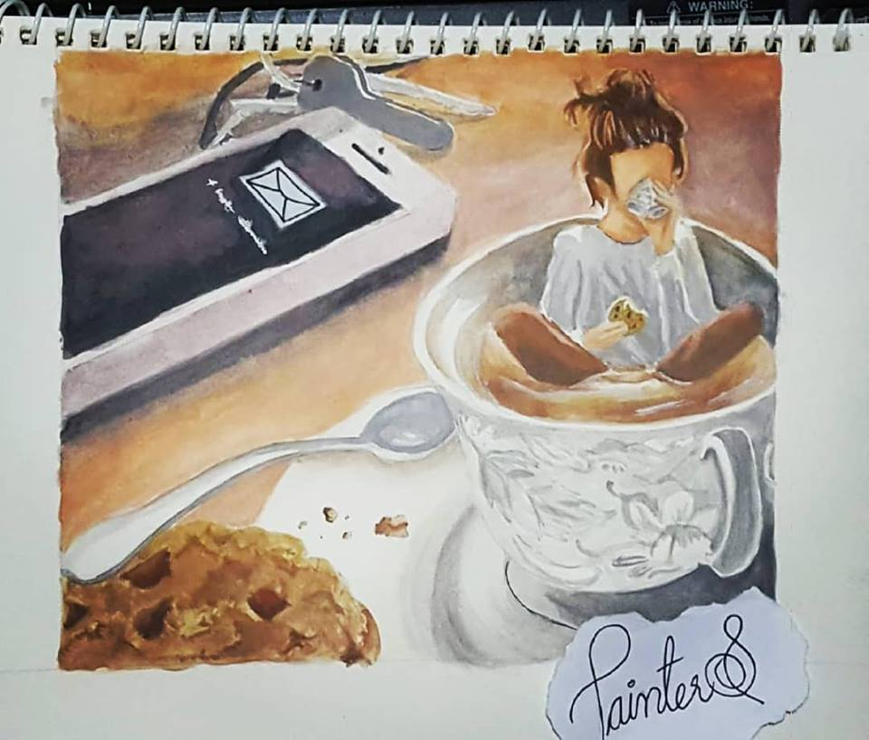 #PainterS #nonstopcreative March :15 Topic : Best Drink ever For me 'Tea' is the bestest