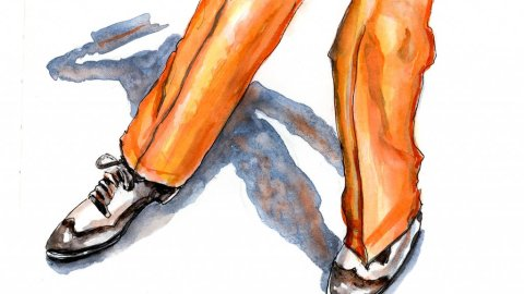 Day 13 - Tap Dancer Watercolor - Doodlewash