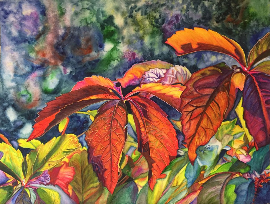 Leaves Watercolor Painting by Prerana Kulkarni - Doodlewash