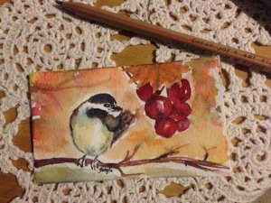 The other side of spring..is fall, my favorite time of year and this little chicadee is eyeing some