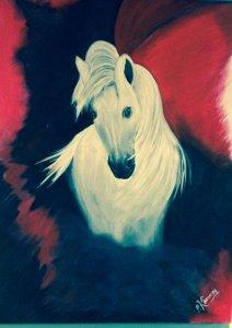Large acrylic painting called White Angel IMG_1383