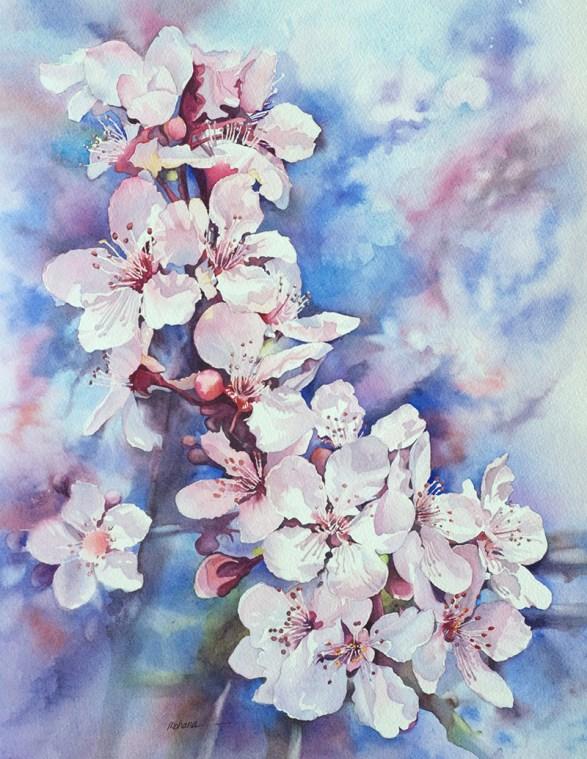 Spring Flowers Watercolor Painting by Mohana Pradhan - Doodlewash