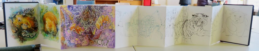 Hahnemühle zigzag book painting example