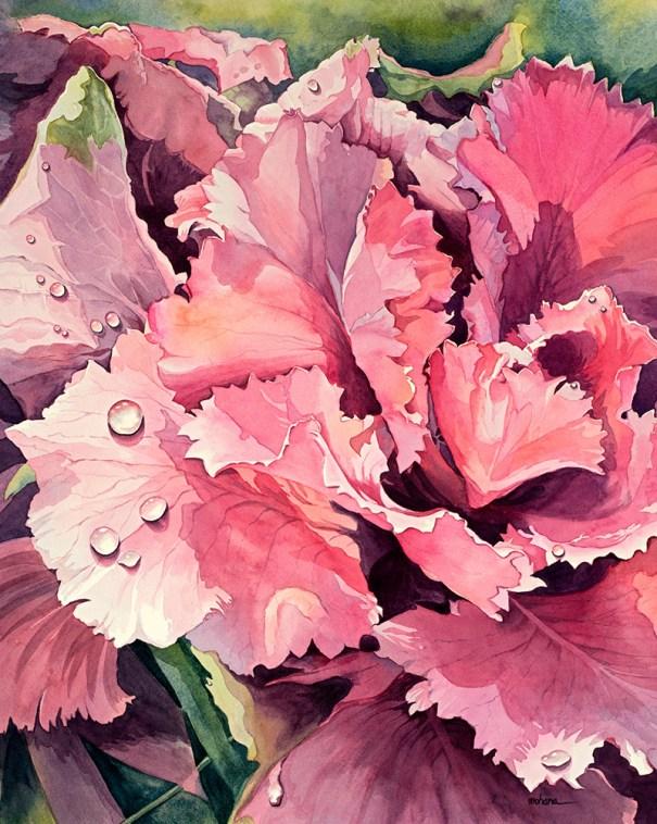 Pink Flower Watercolor Painting by Mohana Pradhan - Doodlewash