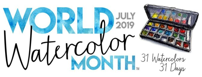 World Watercolor Month 2019 Banner