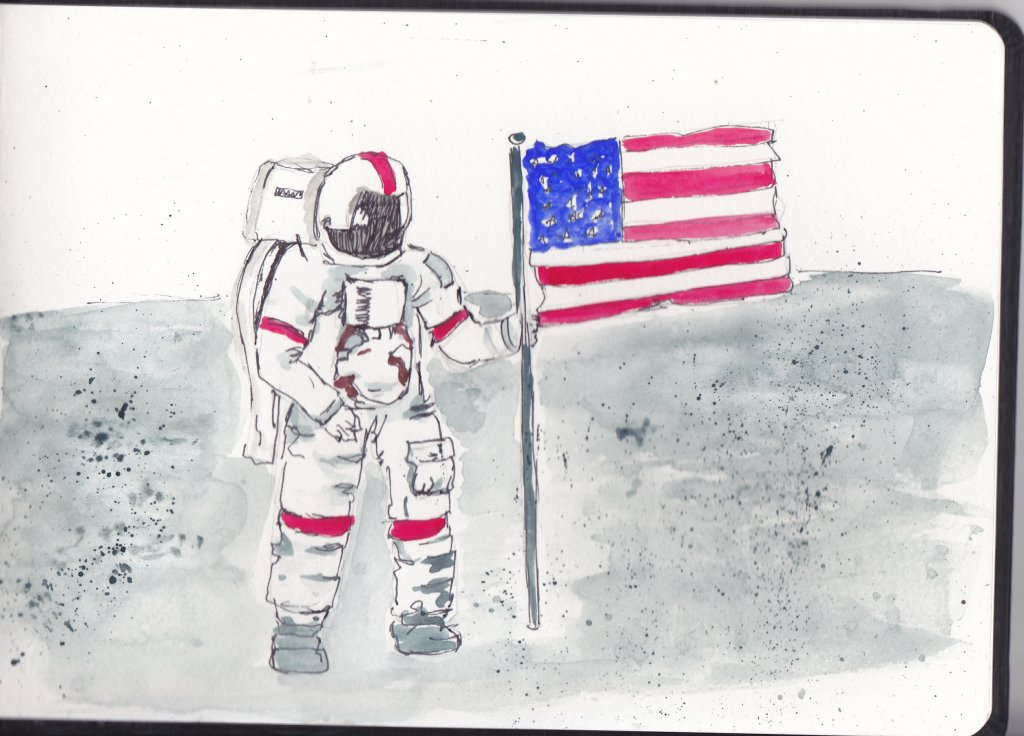 Prompt Day 17-Astronauts. I like to believe that there is daylight in space because I hate to do fla