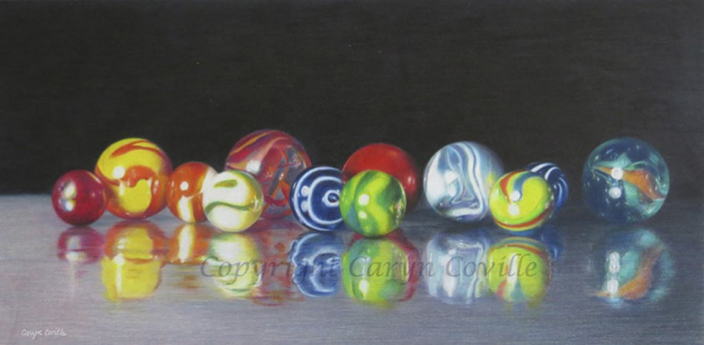 Marbles, Colored Pencil - C. Coville - Doodlewash