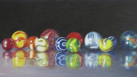 Marbles, Colored Pencil - C. Coville - Doodlewash