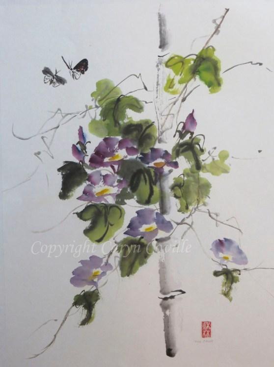 Purple Glory, Ink & Watercolor - C. Coville - Doodlewash