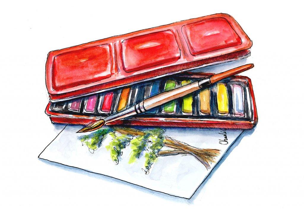 Day 1 - Beginner Watercolor Art Supplies - Doodlewash