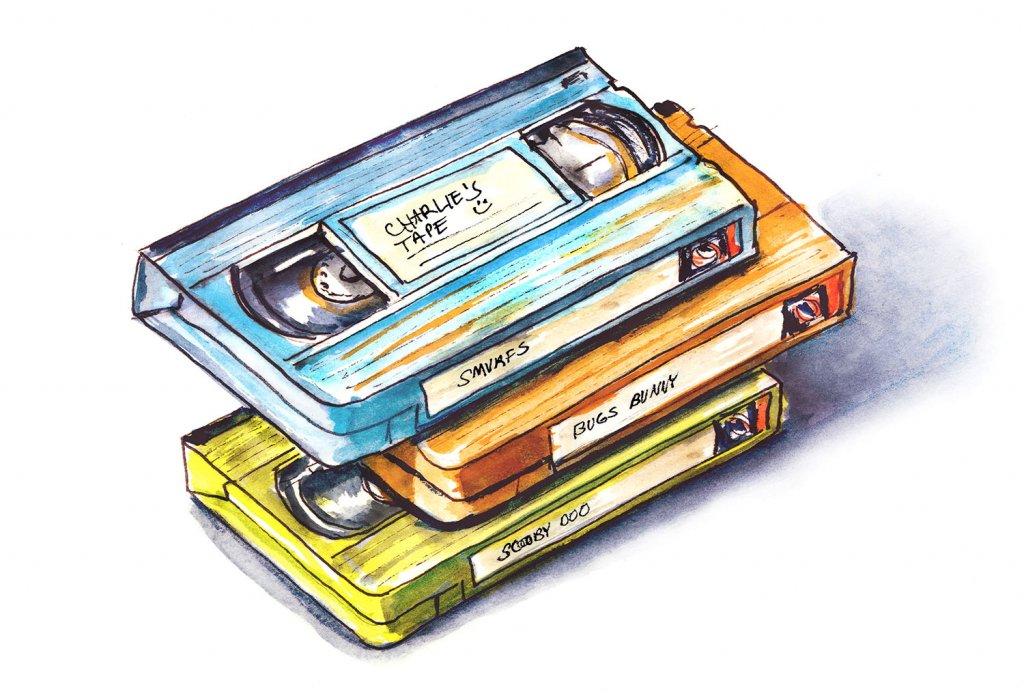 Day 20 - VHS Tapes Illustration - Doodlewash