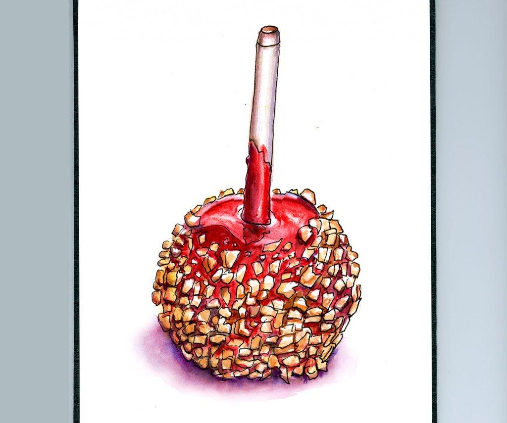 Candy Apple Illustration - Doodlewash