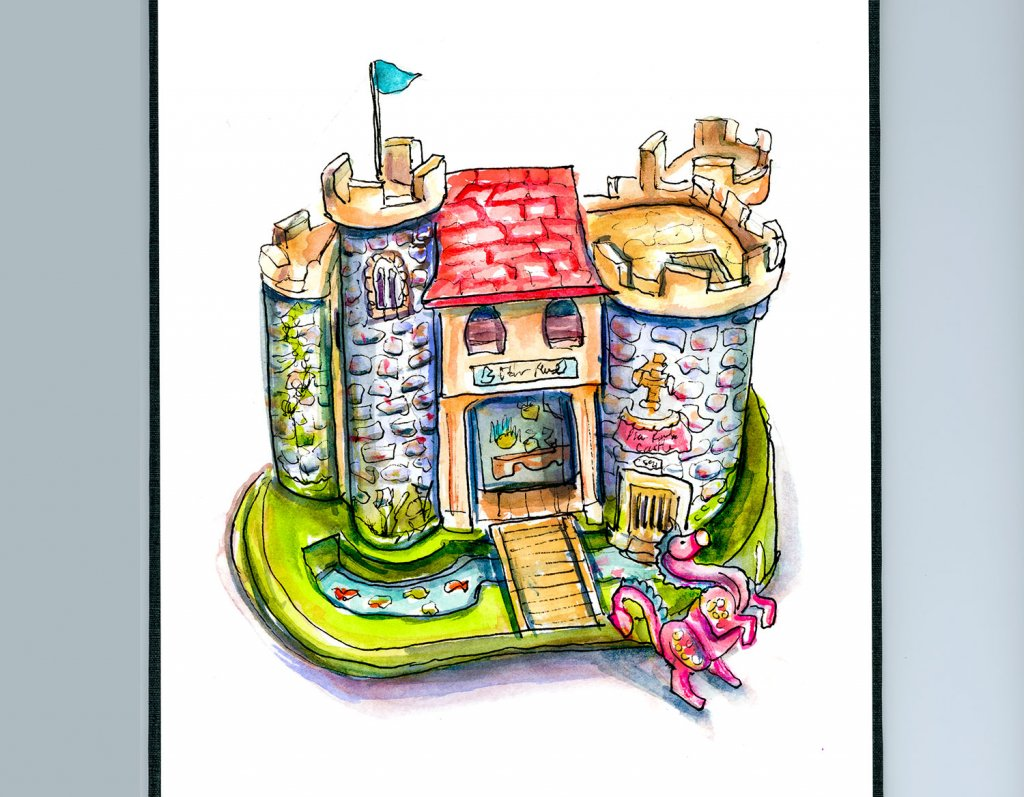 Fisher Price Medieval Castle Illustration