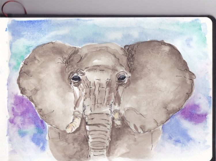 Day 16 Prompt-Elephants. I am way behind this month. Elephant_0001