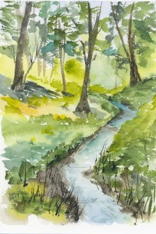 My Favorite Place Watercolor Painting by Bette-Ann LaBerge