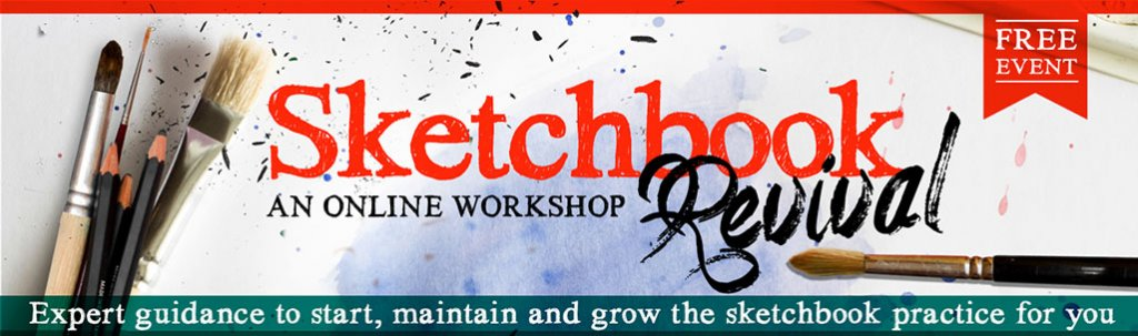 Sketchbook Revival Online Workshop 2019 Banner