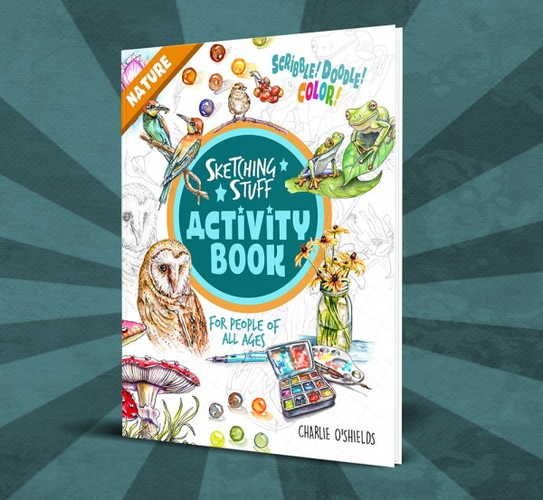 Sketching Stuff Activity Book Nature Product Image - Doodlewash