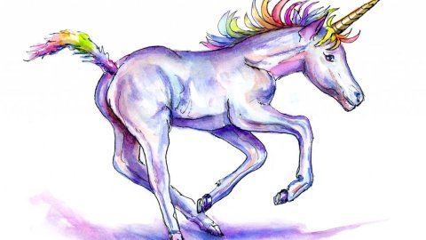 Unicorn Day Watercolor Illustration - Day 9 - Doodlewash