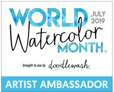 World Watercolor Month Artist Ambassador Badge 2019