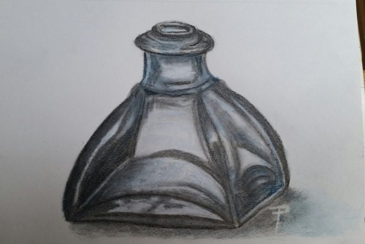 added watercolour to the charcoal sketch charcoal & watercolour