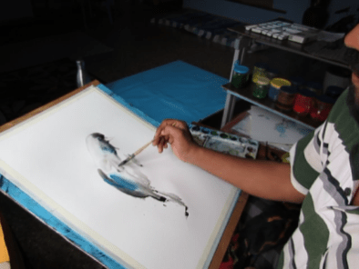 Watercolor Painting Process by Shyam Kumar - Doodlewash