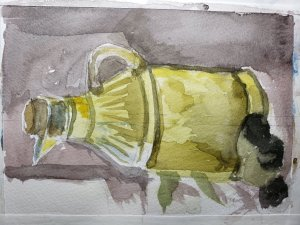 I am the greatest sideways artist ever! Olive oil for the other day. 20190524_160942