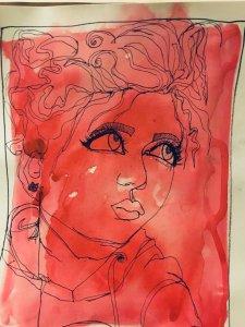 #DoodlewashMay2019 #redhot Sktchy reference Annalisa A4845498-C41A-4E8B-AF40-49AF730EB7A8