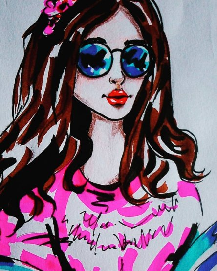 Brush pen sketches….😻✌️😘 IMG_20190418_124950_801IMG_20190418_125