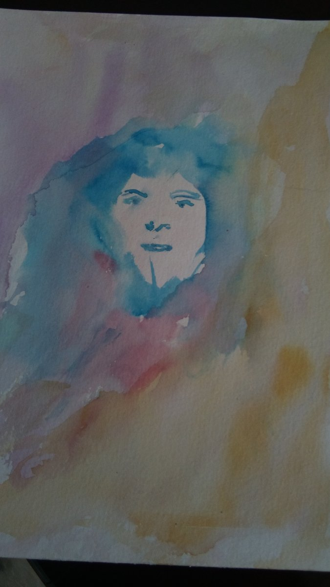 this is my first face in watercolor it was fun IMG_20190425_123109