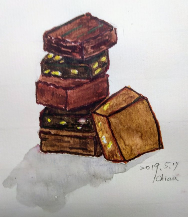 """Chocolate brownie For today's prompt ㄧ"""" Brownie Points"""" IMG_20190517_101242"""