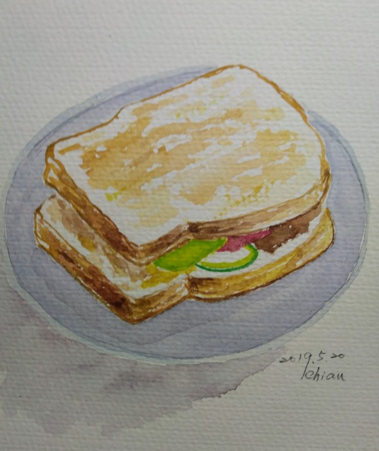 """Breakfast For today's prompt """"Blue-plate special"""" IMG_20190520_171214"""