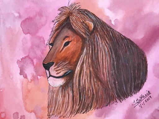 Joys Art 360 Lion on Watercolor BackgroundJoys Art 360 Owl on Watercolor Background