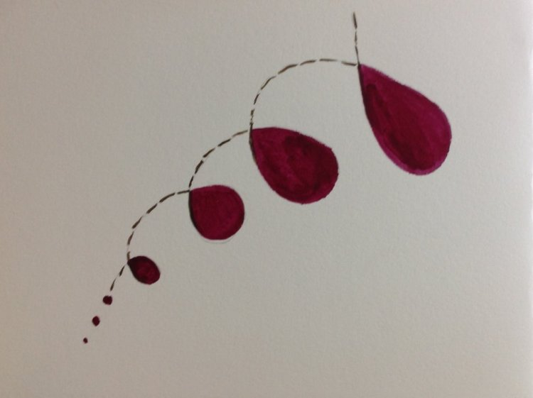 Day 5 #doodlewashMay2019 Shrinking Violet day 5 shrinking violet