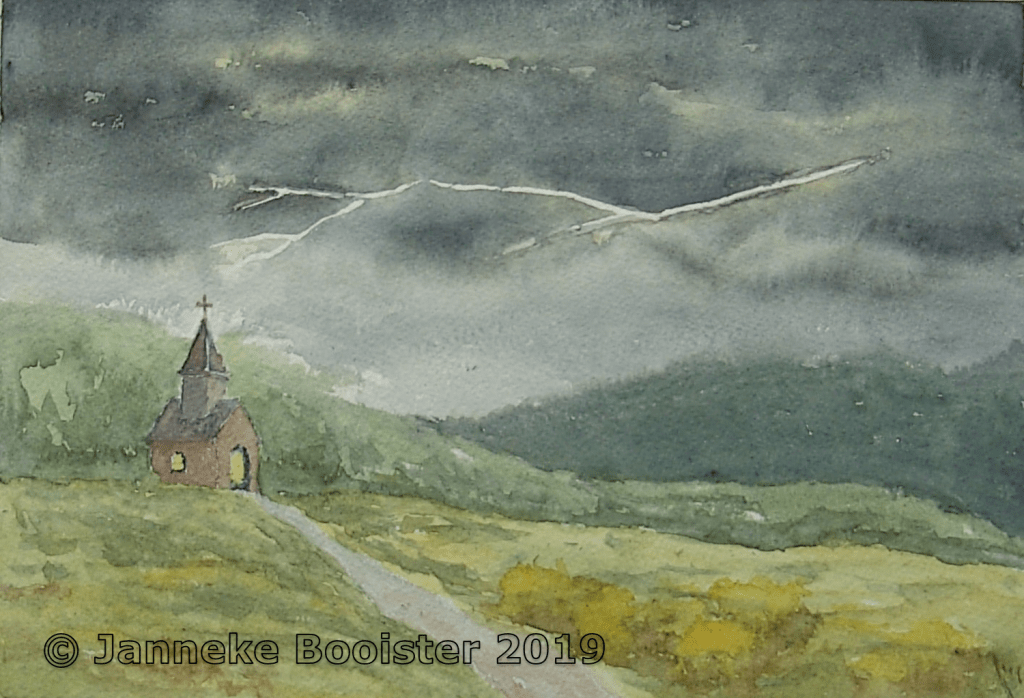 """Inspired by the thunderstorms we had over the last weeks I decided to paint another """"what if&#"""
