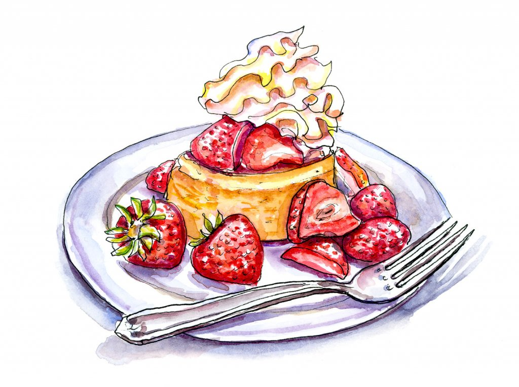 Strawberry Shortcake Illustration