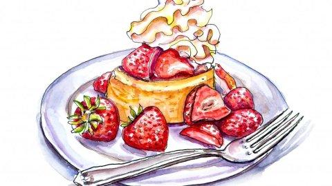 Strawberry Shortcake Illustration