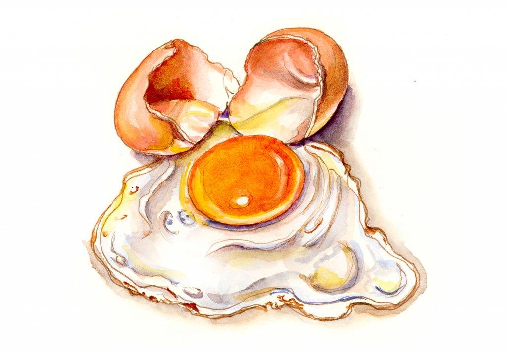 Frying An Egg On The Sidewalk Illustration - Doodlewash