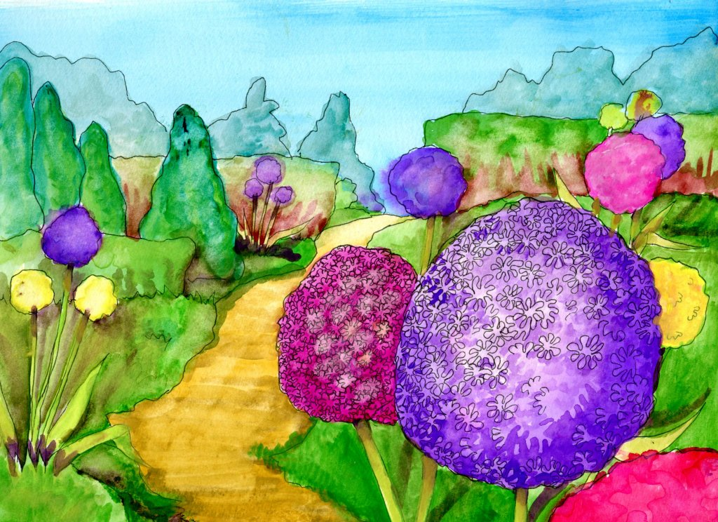 Giant Alium Garden – I'm sure there are some #Stones in this garden, so I'm claim