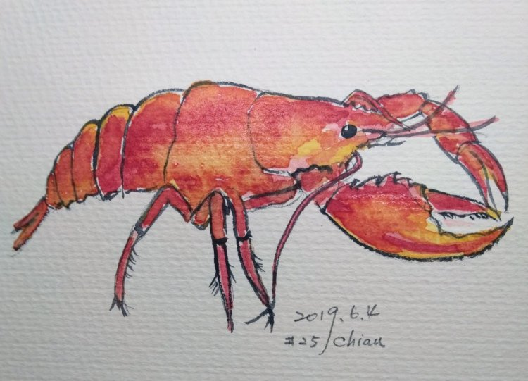 Lobster For 6/4 prompt IMG_20190604_225221