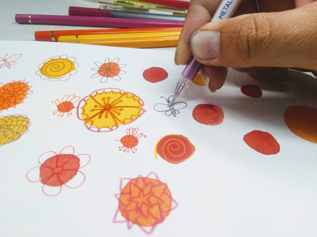 Adding Pen And Ink to Watercolor Mixes