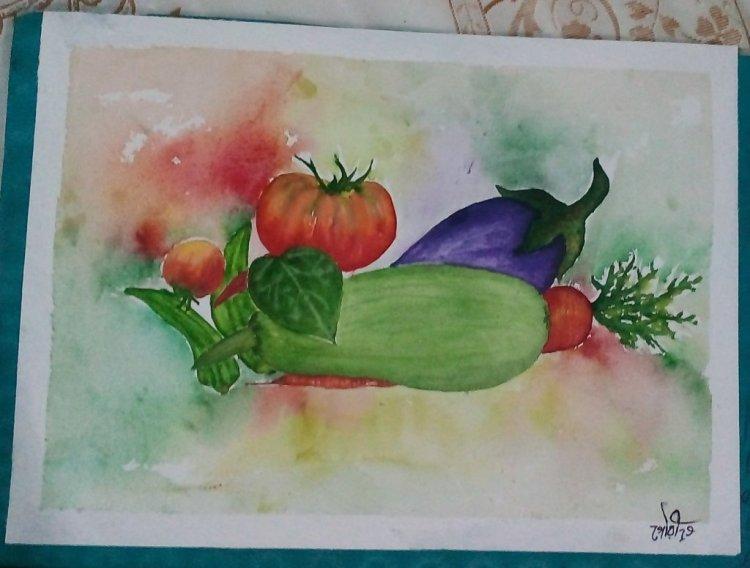 Day21 Vegetables #bengal's_vegetables #doodlewashJune2019 #WorldWatercolorGro IMG_20190621_212