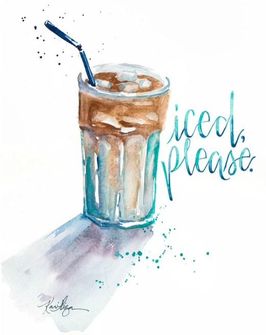 Iced Drink Watercolor Painting by Kari Alisa Watson - Doodlewash