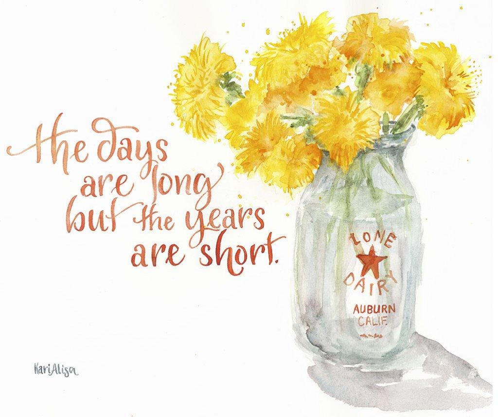Flowers Vase Watercolor Painting by Kari Alisa Watson - Doodlewash