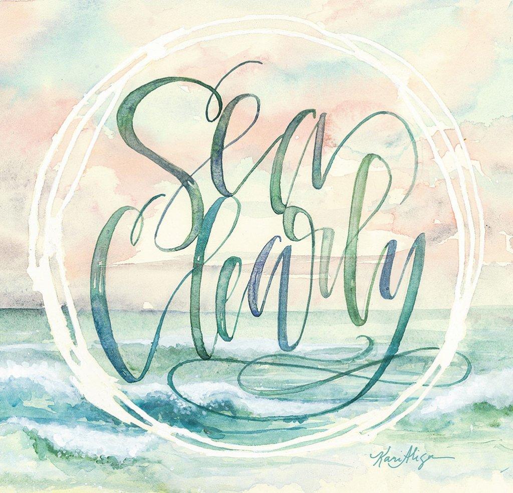 Sea Clearly Watercolor Painting by Kari Alisa Watson - Doodlewash